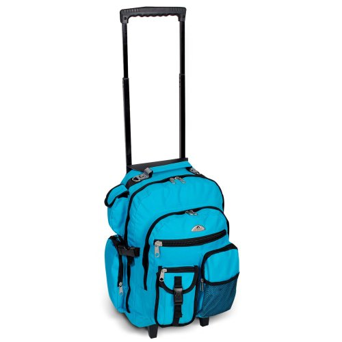 Everest Deluxe Wheeled Backpack Carry Bag - Turquoise