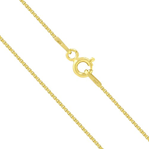 Plated Sterling Silver 0 8mm Chain