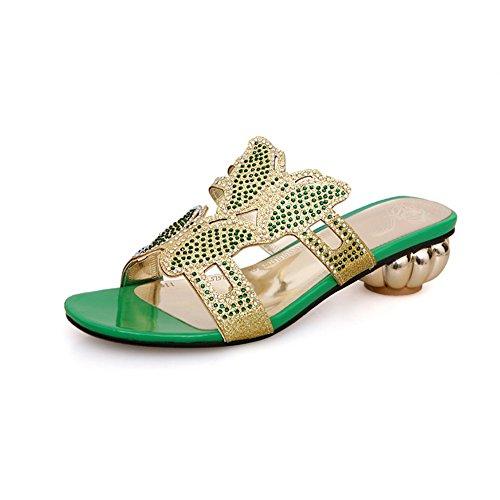 AdeeSu - Zapatos con tacón mujer Verde
