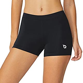 BALEAF Women's 3 Inches Volleyball Compression Shorts Sports Black/Black Size XS