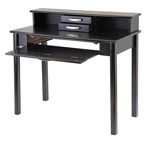 Winsome Liso 2-Piece Home Office Computer Desk with Hutch Set