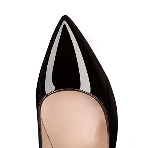 Onlymaker Damen Pumps Stiletto High Heels Sptize Zehenkappe Komfort Casual Bunte Fashion Lady Rot EU36