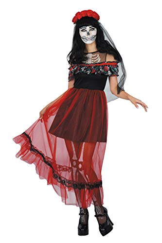 Funny Relevant Halloween Costumes (Womens Halloween Costume Witch Vampiress Skeleton Mermaid Cosplay Fancy Party Dress One Size (One Size,)