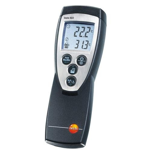 Testo 0560 9221 ABS Dual Type K Infrared Thermometer, 9V Battery