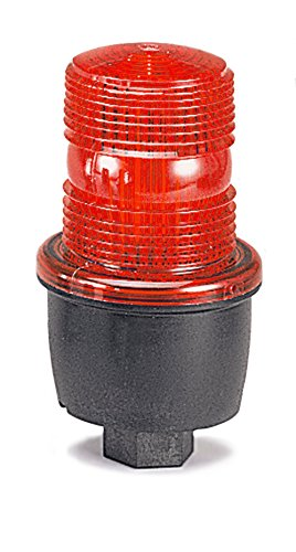 Federal Signal LP3P-120R Streamline Low Profile Strobe Light, Pipe Mount, 120 VAC, Red
