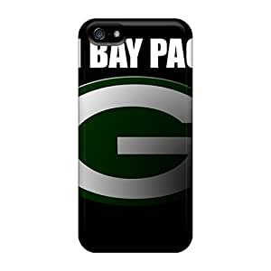 ErleneRobinson Apple Iphone 5/5s Shock-Absorbing Hard Cell-phone Case Allow Personal Design Stylish Green Bay Packers Skin [oWI1442sVZs]