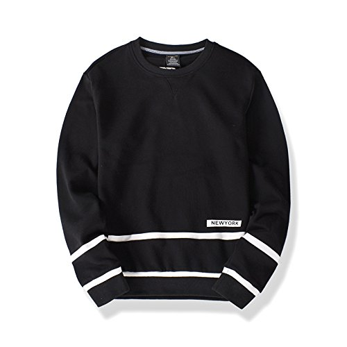 Lisux männer - Casual Mode Pullover Pullover, t - Shirt sinkt Baumwolle Hoodies,schwarz,XXL