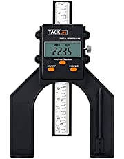 Calibro di Profondità, Tacklife MDG01 Calibro di Altezza 80mm / Valore Assoluto e Relativo/mm Pollice Frazione/Precisione ± 0,1mm / Risoluzione 0,05mm / con Asta di Profondità