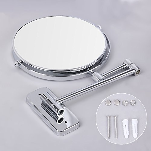 extendable mirror bathroom songmics 7x magnifying wall mount makeup mirror 8 inch two 12807