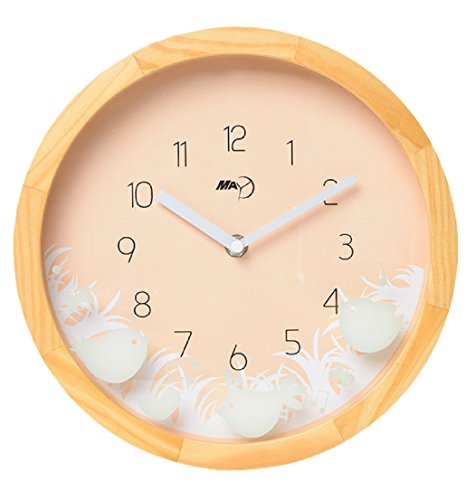 Maytime Christmas Gift Indoor Wooden Frame Simple Modern Silent Sweep Movement Wall Clock 10 - Shelf Ansonia Clock