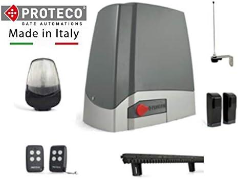 Kit completo profesional motor puerta corredera PROTECO MEKO 8 + cuadro de control + 2 mandos a distancia + fotocélula + antena + luz destellante led + 4 mtrs de cremallera de nylon para atornillar.: Amazon.es: Bricolaje y herramientas