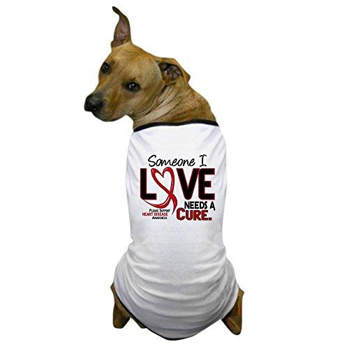 CafePress - Needs A Cure Heart Disease Dog T-Shirt - Dog T-Shirt, Pet Clothing, Funny Dog Costume