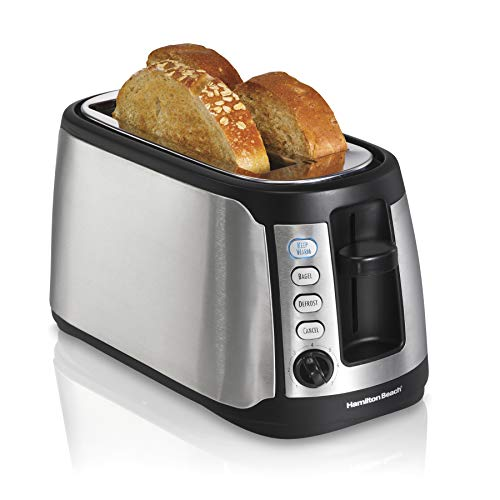 Hamilton Beach 4-Slice Extra-Wide Long Slot Stainless Steel Toaster with Keep Warm
