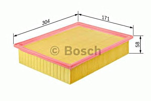 BOSCH Engine Air Filter Insert Fits MERCEDES Coupe C124 S124 (3701 Sb)