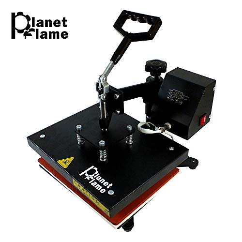PlanetFlame Factory CE 9x12 inch Swing Away Heat Press Machine, Professional 360 Degree Rotation Digital Sublimation Printing Machine Heat Transfer Presses (Red, 9
