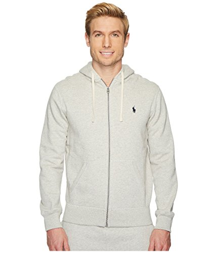 Polo Ralph Lauren Signature Classic Full-Zip Fleece Hooded Sweatshirt (Small, Heather - Uk Ralph Jeans Lauren