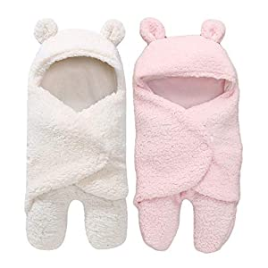 MY NEWBORN Baby Boys and Baby Girls 3 in 1 Baby Blanket-Wrapper-Sleeping Bag Pack of 2 pcs