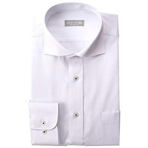 Cutaway Collar Fitted Shirt - DRESSCODE101 Dress Shirts for Men Wrinkle Resistant 10 Designs Long Sleeve Japanese Products