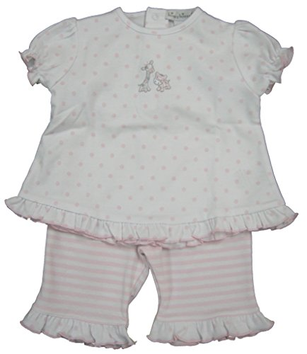 Kissy Kissy Baby-Girls Infant Toy Box Dots Capri Pant Set-White with Pink-12-18 Months ()