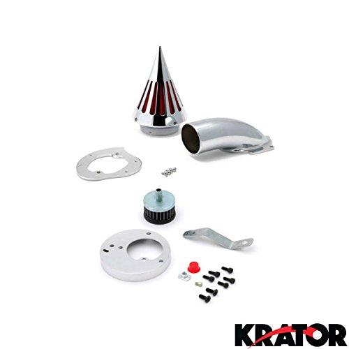 Krator® Honda VTX 1300 VTX1300 (All Years) Cruiser High Quality Chrome Billet Aluminum Cone Spike Air Cleaner Kit Intake Filter Motorcycle (Vtx 1300 Air Cleaner)