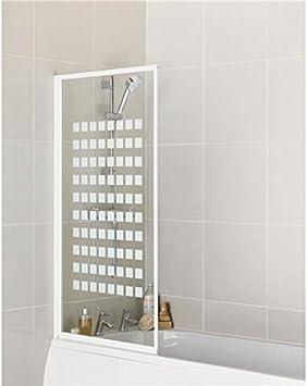 Aqualux - Mampara de ducha para baño (3 mm, fácil de limpiar ...