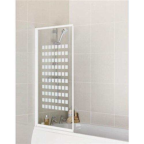 Aqualux Fully Framed Silver Shower Bath Screen Bathroom Pivot 3mm Easy Clean