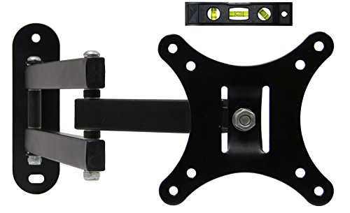 Ryehaliligear Full Motion Articulating Swivel Tilting Single Flat Screen LCD TV Wall Mount Bracket for 14