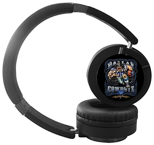 Kanghome Bluetooth Headphones Dallas Cowboys Over-ear Stereo Wireless Wired Headsets with Microphone for Music Streaming,Hands-free Calling For iPhone,Samsung,iPad,PSP and enabled Bluetooth-Black