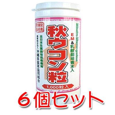 EM&乳酸菌培養末入 秋ウコン粒1000粒入り 6個セット   B007D0IL7E