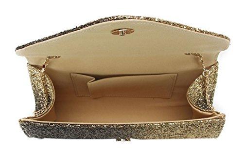Polyvalent Amber Black Premium Embrayage Matière Portefeuille Purse Glitter Bracelet Embrayage Kukubird Métallique Gold Op0q5p