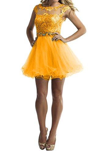 Toscana de novia vestidos de novia cortos con punta por la noche fiesta de cóctel de tul vestido de noche abiball moode dorado