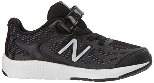 New Balance Boys' 519v1 Hook and Loop Running Shoe Black/White 2 M US Infant by New Balance (Image #7)