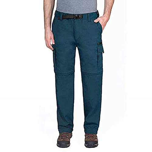 BC Clothing Men's Convertible Pant with Stretch,Variety (Lx30, Teal)