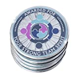 """AttaCoin - 5 Pack Metal Thank You Coins for """"Teamwork"""" - Unique Office Gift Ideas - Employee Appreciation / Holiday Presents"""