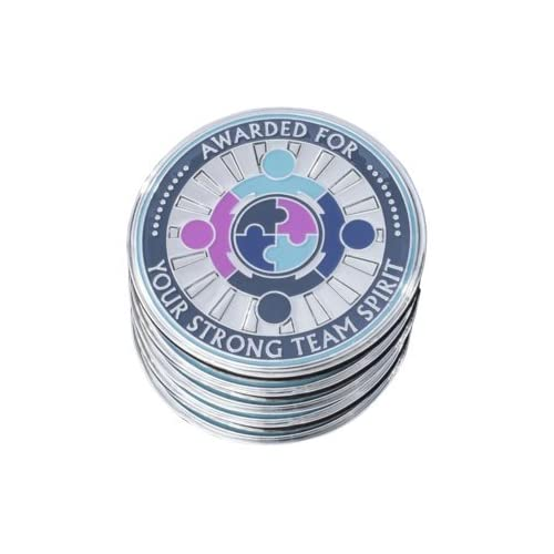 """Nice AttaCoin - 5 Pack Metal Thank You Coins for """"Teamwork"""" - Unique Office Gift Ideas - Employee Appreciation / Holiday Presents for cheap"""