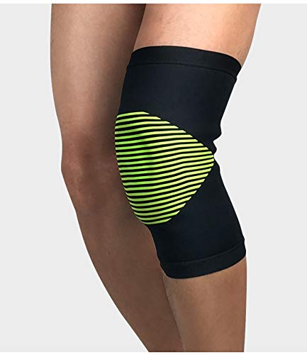 Elastic Sports Leg Knee Support Brace Wrap Protector Pads Cap Patella Guard Compression Pad,Green,L