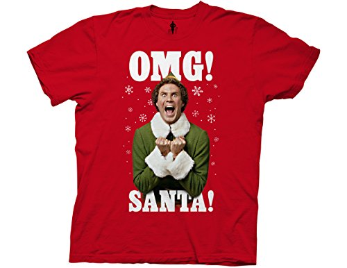 Ripple Junction Elf OMG Santa Adult T-Shirt Medium -