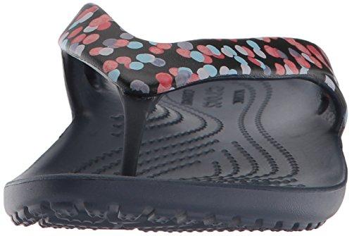 Crocs Mujeres Kadee Ii Graphic Flip Flop Dots / Navy