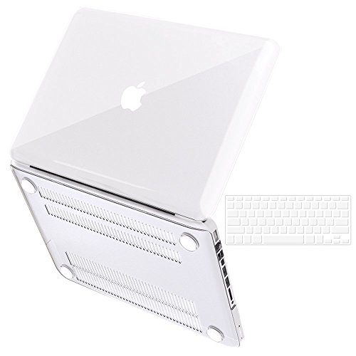 Crystal Clear Pro Case (iBenzer Basic Soft-Touch Series Plastic Hard Case & Keyboard Cover for Apple MacBook Pro 13-inch 13