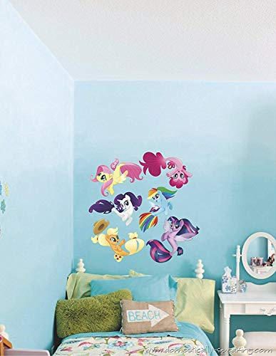 My little pony sea ponies mermaid 3D Window View Decal Graphic WALL STICKER Art Mural. Self adhesive Graphic Art Mural]()