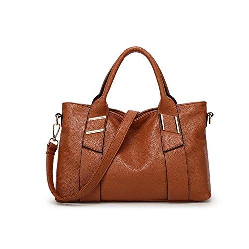 Minkoffo 2016 New Portable Messenger Embossed Leather Handbag Shoulder Bag Big(c6)