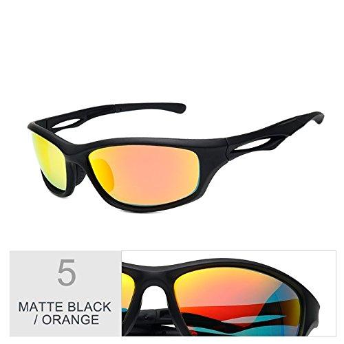 Uv400 Sol Para Hombres Polarizadas Orange Sol Gafas Color De Hombres Mate Nocturna De Matte Gafas Para Guía De Noche Negra Gafas Visión La Deportes De TIANLIANG04 De Deportes Black wq71wP5X