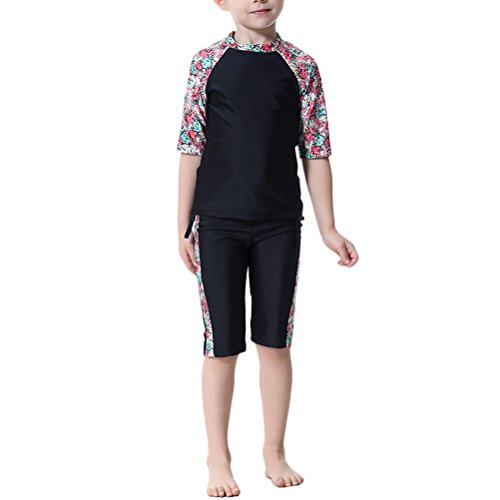Zhuhaitf Children Girls Modest Fit Swimsuit Casual Muslim Swimwear Burkini by Zhuhaitf