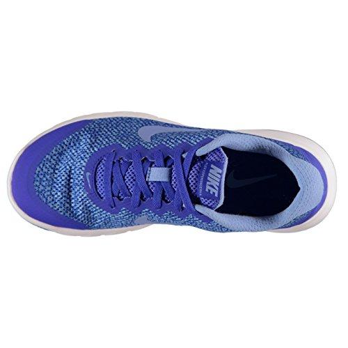 NIKE Flex Expérience Imprimé Chaussures de Course à Pied pour Femme Bleu/Bleu Course Baskets Sneakers