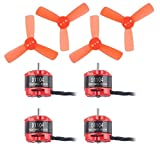 Makerfire 4pcs D1104 7500KV Brushless Motor and 4pcs 1935 3-Blade Propellers for 60 70 80 90 RC Multirotor FPV Racing Drone Quadcopter