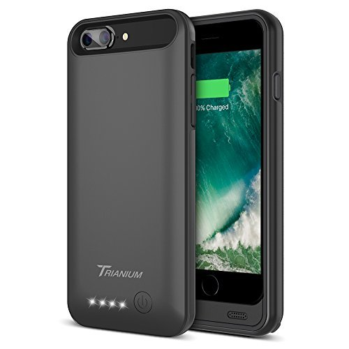 iPhone 7 Plus Battery Case, Trianium Atomic Pro iPhone convenient Charger iPhone 7 Plus 2016 Charging claim [Black] 4200mAh Extended Battery Pack capability Cases veggie juice Bank Cover[Apple Certified Part]