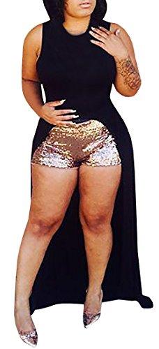 Ybenlow Womens Sleeveless Bodycon Irregular