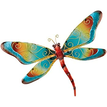 Regal Art u0026 Gift Dragonfly Wall Decor, Blue
