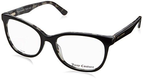 Juicy Couture Plastic square Eyeglasses 52 0WR7 Black Havana