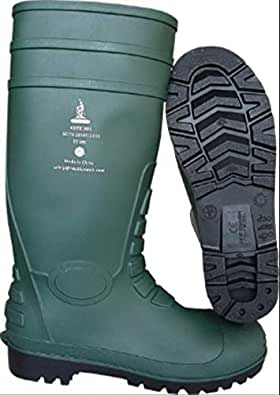 Safety Gum Boots 4SITE 301 S5 SRC CE Certified Intertek Work Shoes, PVC, Quick Drying Synthetic Fibre, Size 45
